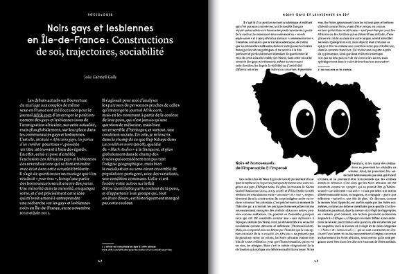 Noir.e.s gays et lesbiennes en ile de france : construction de soi, trajectoires et sociabilité. Friction Magazine queer
