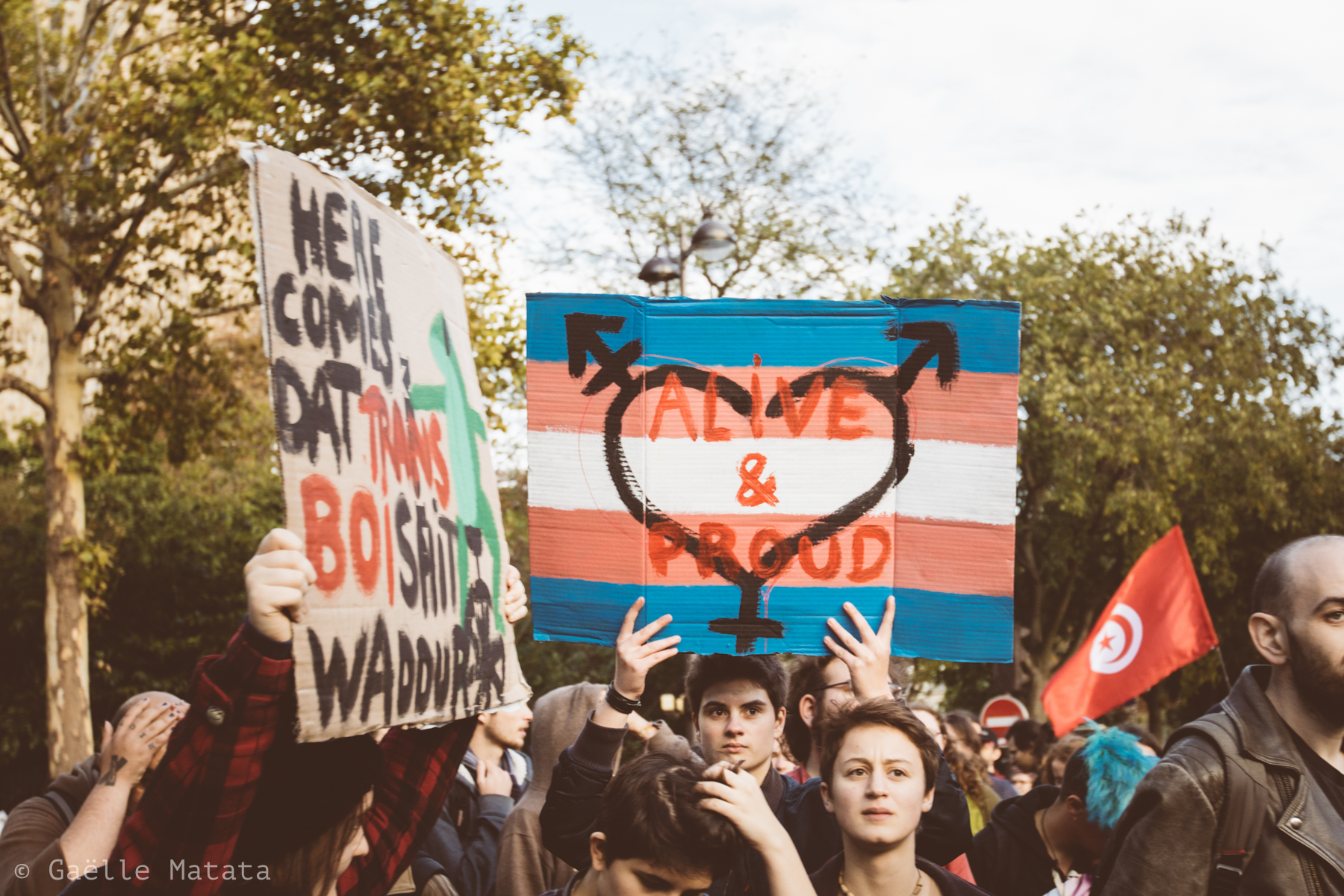 manifestation Existrans 2017 à Paris : 21ème marche des personnes trans et intersexes