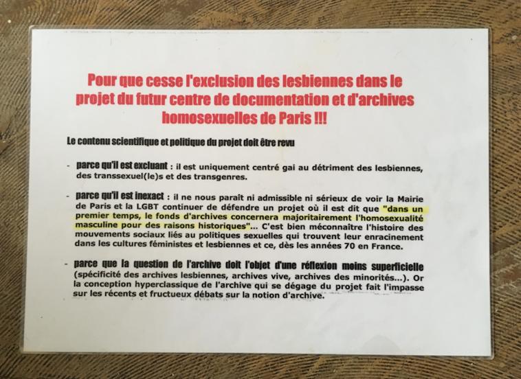 Pour que cesse l'exclusion des lesbiennes des archives LGBTQI - Friction magazine lesbien