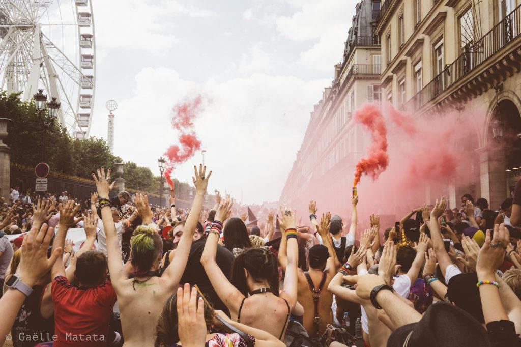 Pride 2018 de Paris : cortège de Tête