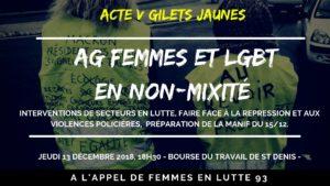 AG femmes et LGBT en non mixité