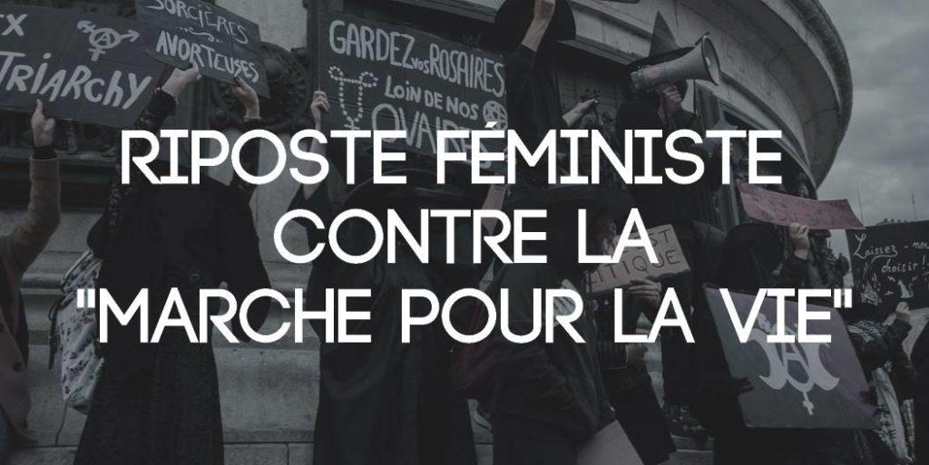 Witch Bloc Paname : riposte féministe contre la marche pour la vie