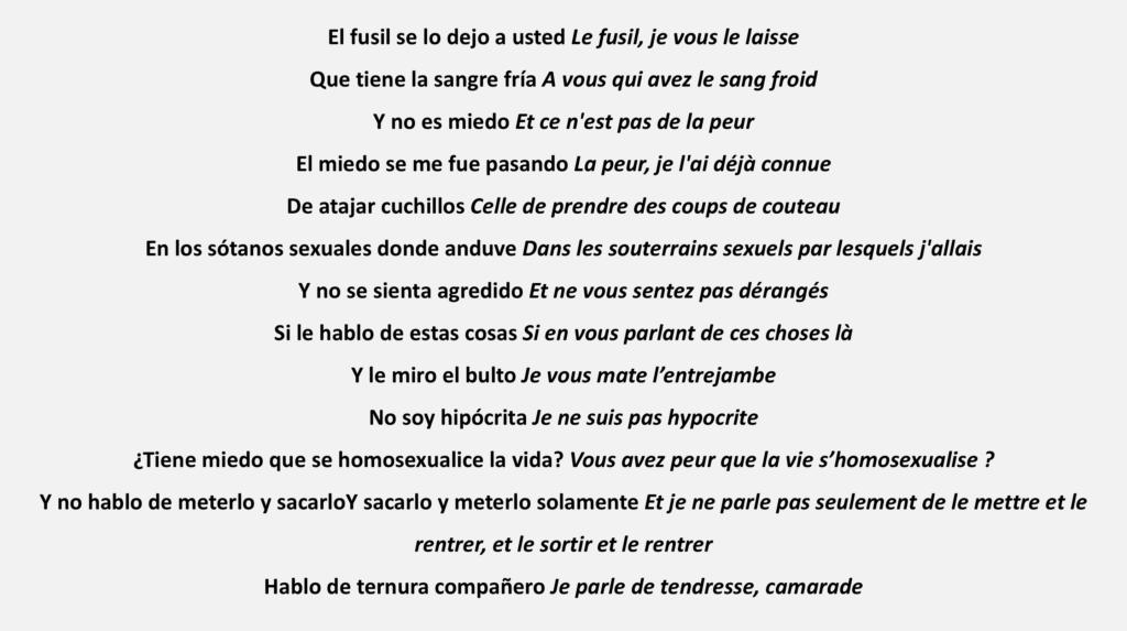 Texte lu par Pedro Lemebel lors d'un rassemblement politique de la gauche en septembre 1986, à Santiago du Chili (traduction : Leslie Cassagne et Manon Worms).