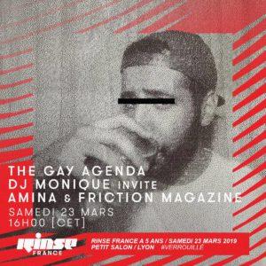 gay agenda avec Amina - Rinse FR friction magazine
