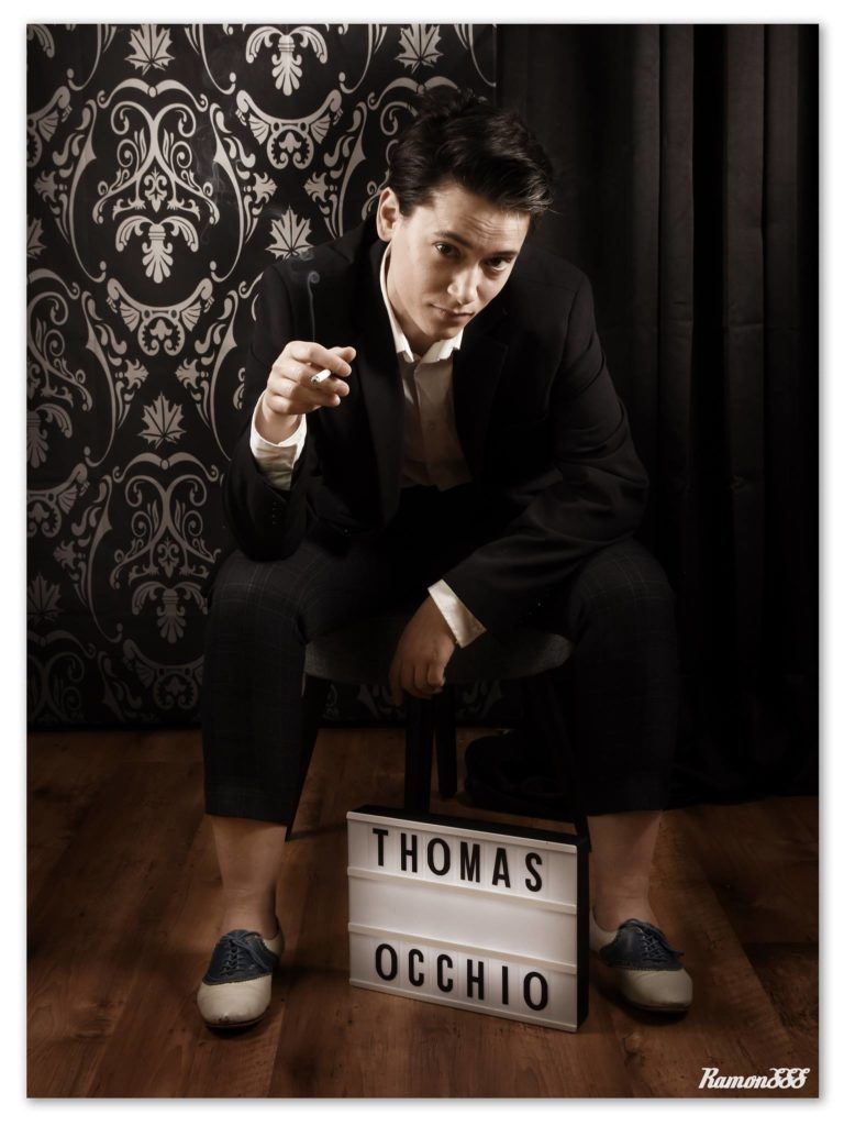 Thomas Occhio drag king - Friction Magazine drag