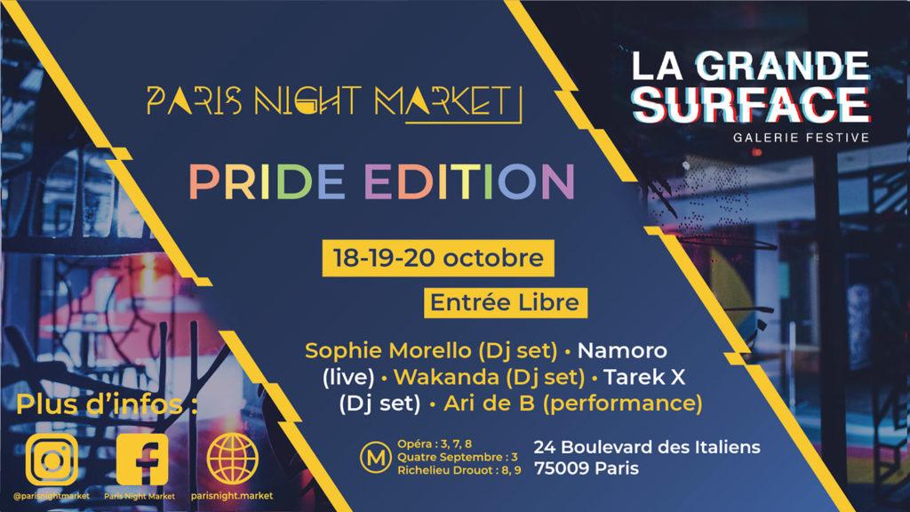 pride edition du paris night market à la grande surface Paris - Friction magazine queer