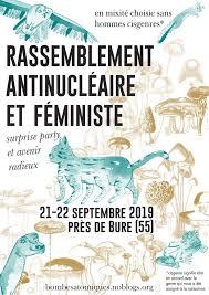 L'affiche du rassemblement antinucléaire et féministe de Bure - Friction Magazine féministe