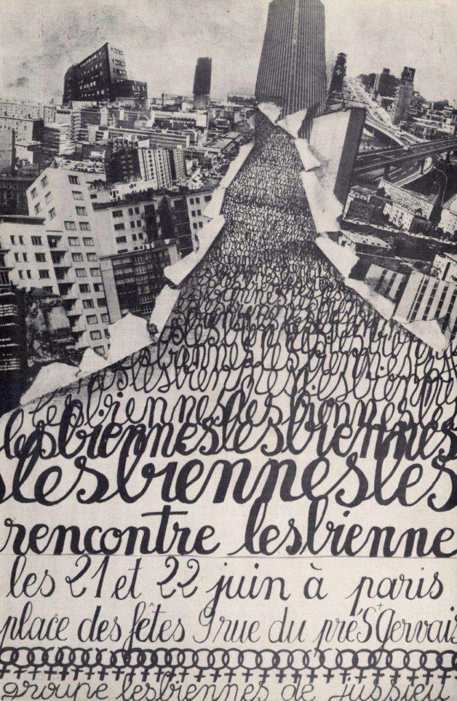 Affiche de rencontre lesbienne à Paris - Friction Magazine lesbien