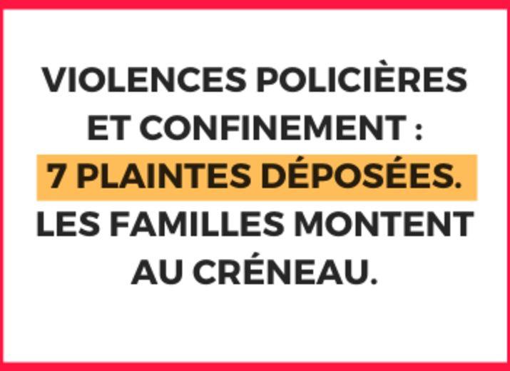 Violences policières et confinement : 7 plaintes déposées et une cagnotte - Friction Magazine