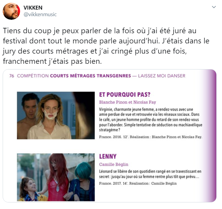 screen du thread twitter de vikken activiste et artiste trans