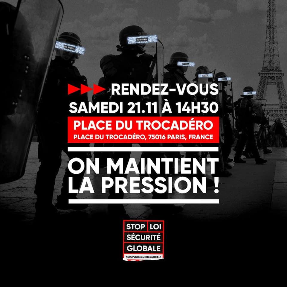 StopLoiSécuritéGlobale  : les rassemblements paris