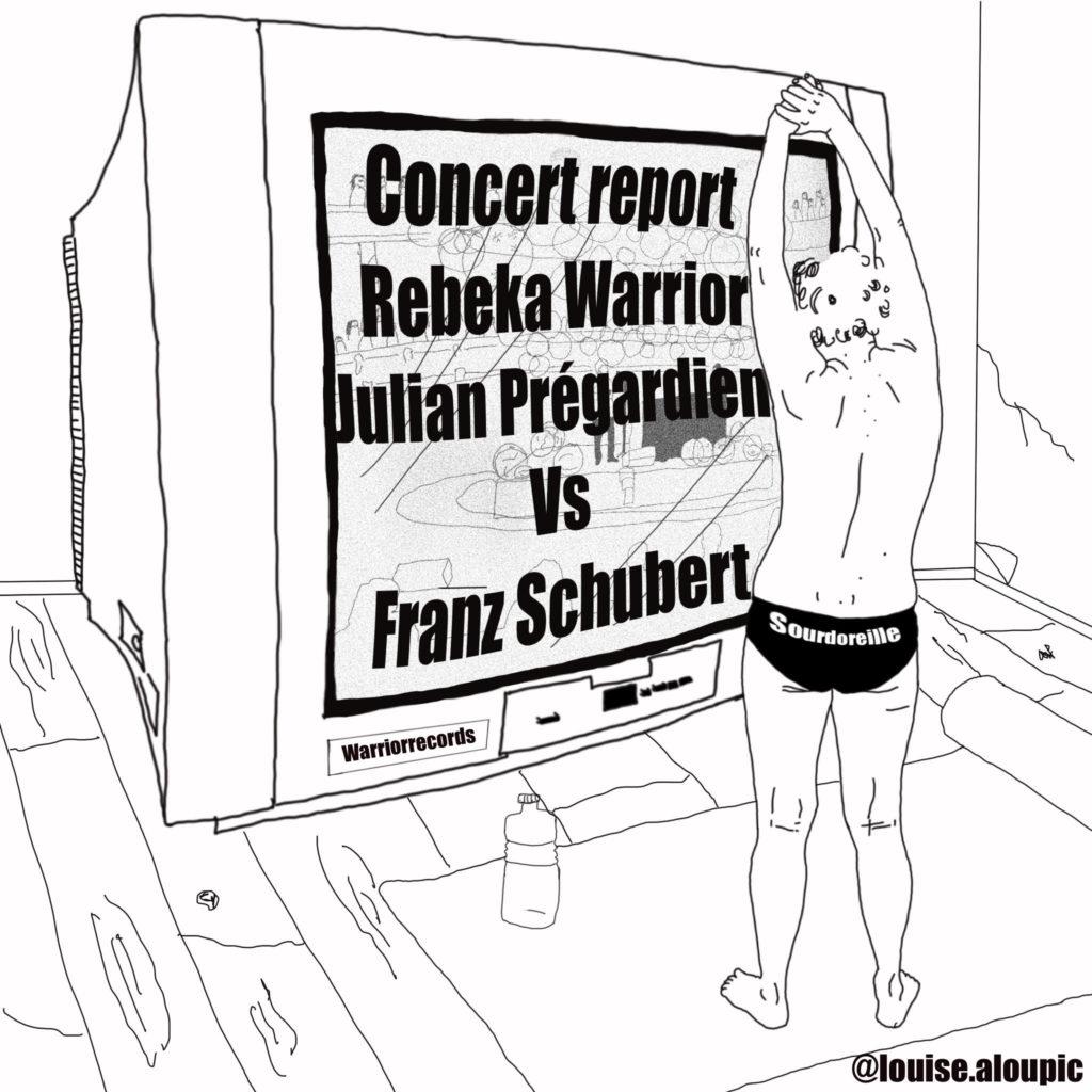 Rebeka Warrior et Julian Prégardien mettent schubert en musique - variations de sourdoreille - Louise aloupic illustration