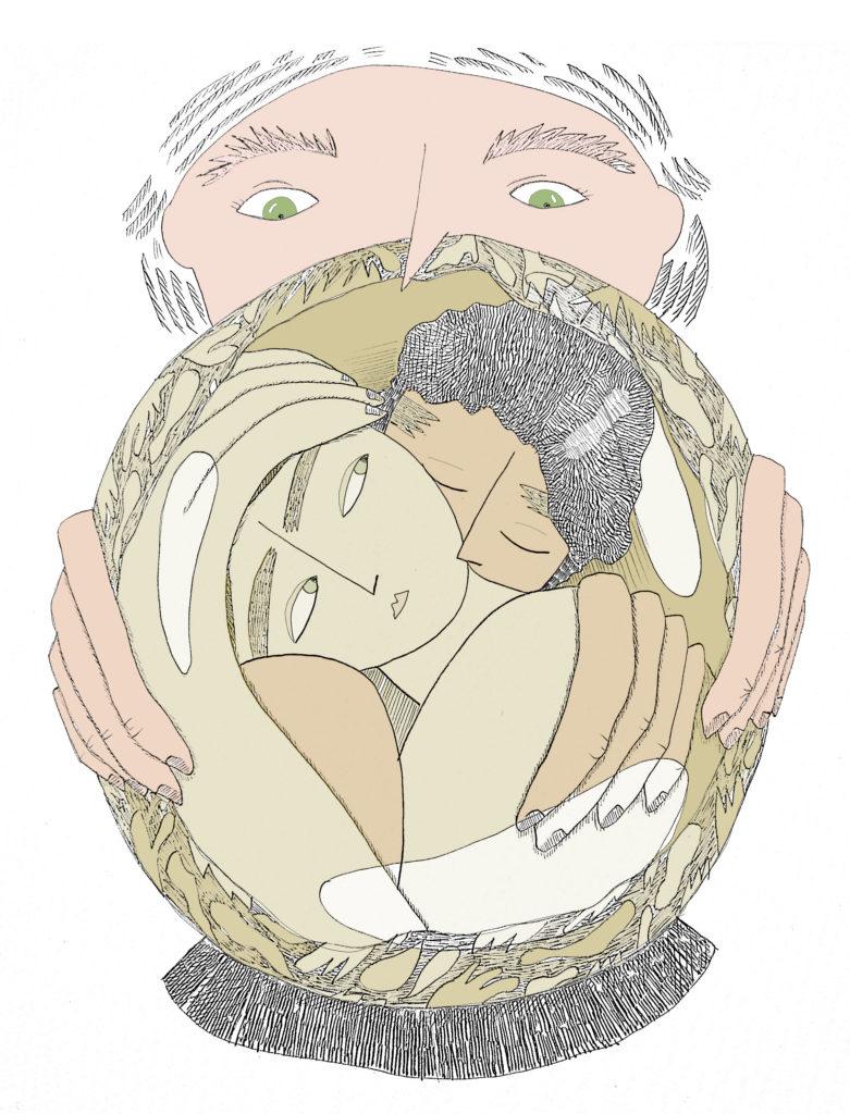 Exotisation du corp homosexuel pd asiatique - poésie - Friction MAgazine - Illustration Zoé Maghamès Peters