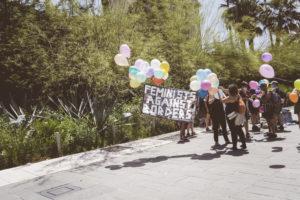MAnif toutes aux frontières à Nice - féministes contre la réprésion des migrations